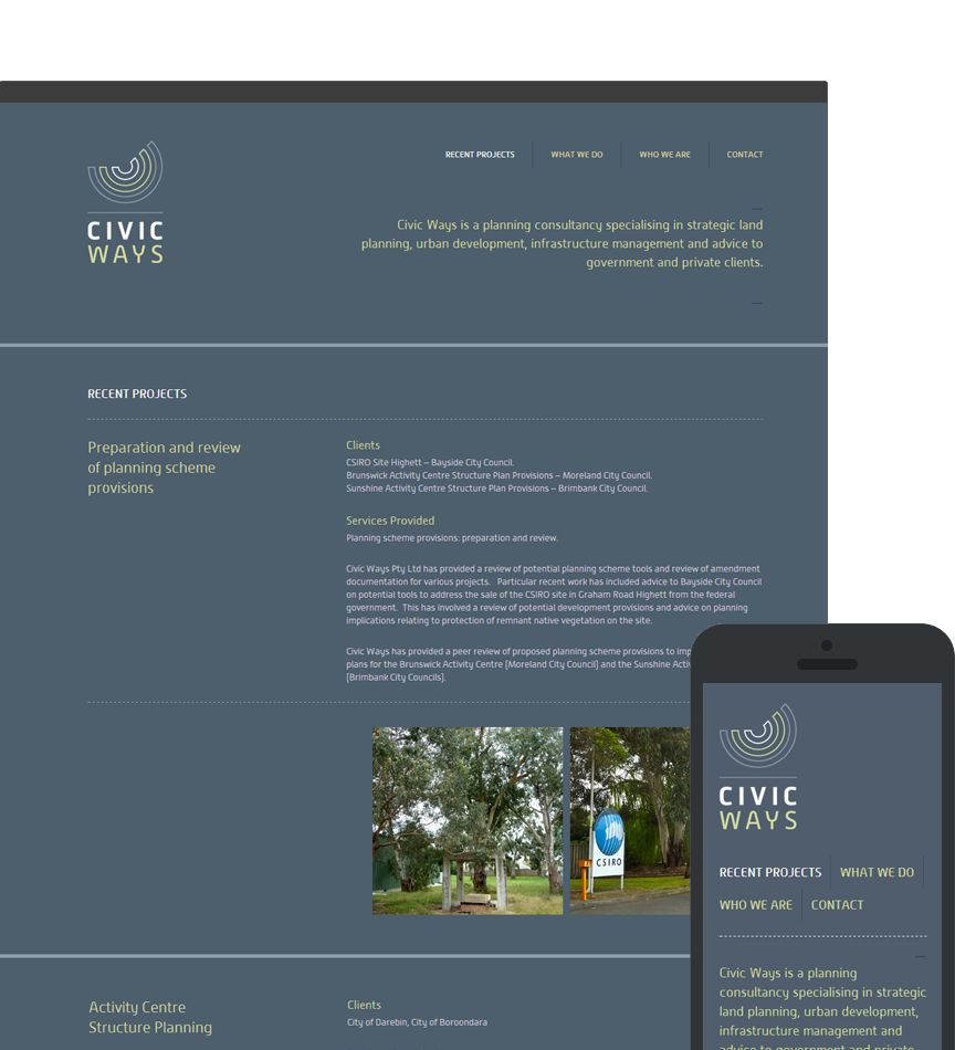 Web Design for Civic Ways