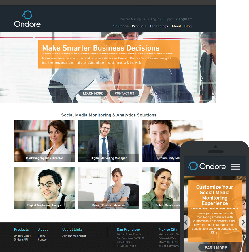 Web Design for Ondore