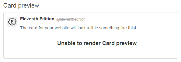 Unable to render card preview